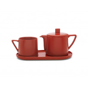 Tea-for-one set Lund red