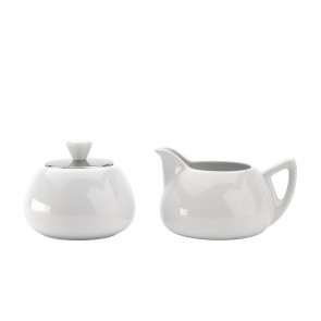 Cosy Manto sugarbowl and creamerset, white