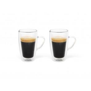 Double-walled espresso glass 100ml, s/2