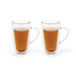 Double-walled coffee/tea glass 295ml, s/2