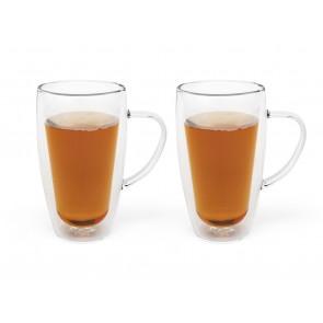 Double-walled coffee/tea glass 320ml, s/2