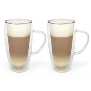 Double-walled cappuccino/latte macchiato glass 400ml, s/2