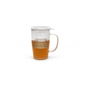 Tea glass Veneto 530 ml + filter s/s + lid