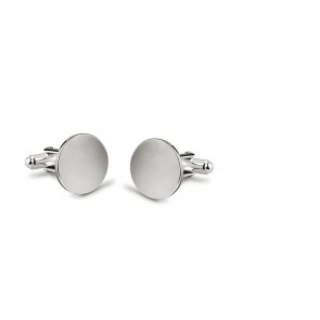 Cufflinks Round, smooth, in box 5086 17mm sp.