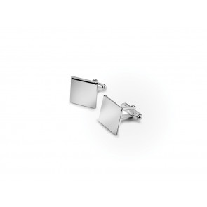 Cufflinks square (B90 heavy silver plated)