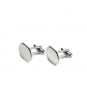 Cufflinks oval (B90 heavy silver plated)