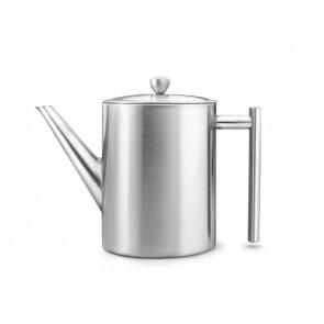Teapot Minuet Cylindre Satin Metal 1.2 liter