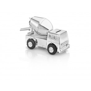 Money box Cement Truck, silver plated/lacquered