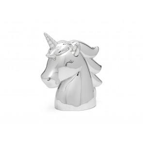 Money box Unicorn silver colour