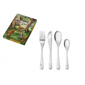 Children's cutlery 4pcs Forest animals s/s
