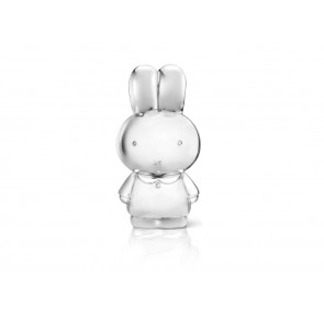 Money box miffy XL, silver plated lacquered