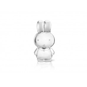 Money box miffy, silver plated lacquered