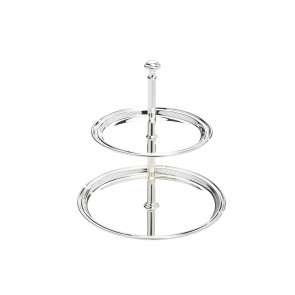 Serving stand Elegance 2-tier, large, 17x22cm sp.
