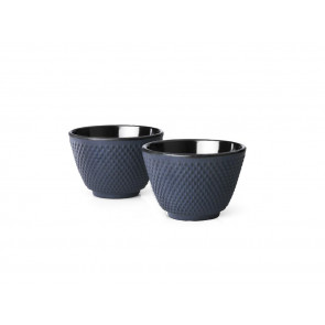 Cups Xilin cast iron blue s/2