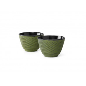 Cups Cast Iron S/2 Xilin Green