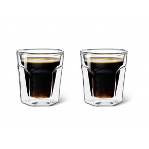 Double Walled Glass Espresso, 100ml, set of 2