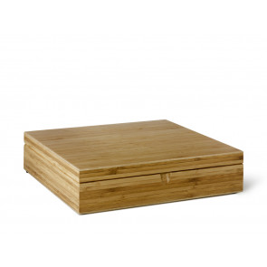 Tea Box 12 compartments Bamboo closed