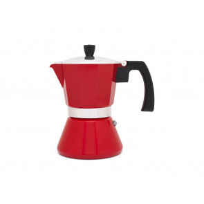 Espresso maker Tivoli, red 6cups with induction