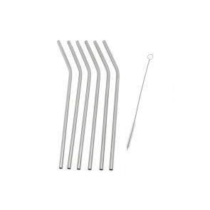 Straws 6-pcs s/s + cleaning brush